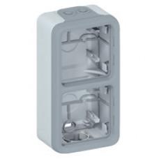 Plexo Серый Коробка 2-ая для наружного монтажа вертикальная IP55 | 069661 | Legrand