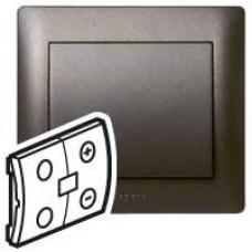 Панель Galea Life лицевая светорегулятора In one300Вт.Dark bronze | 771269 | Legrand