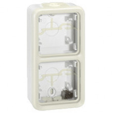 Plexo Белый Коробка 2-ая для наружного монтажа вертикальная IP55 | 069691 | Legrand