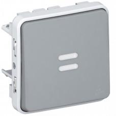 Plexo Серый Переключатель 1-клавишный с индикацией IP55 | 069512 | Legrand