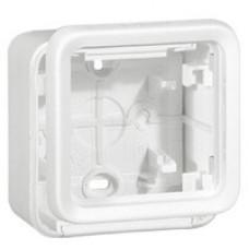 Plexo Arctic Антибактериальный Белый Монтажная коробка 1-ая для наружного монтажа IP55   070741   Legrand