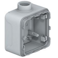 Plexo Серый Коробка 1-ая для наружного монтажа с 1 каб.вводом ISO20 IP55 | 069656 | Legrand