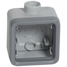 Plexo Серый Коробка 1-ая для наружного монтажа с 1 каб.вводом ISO20 IP55 | 069652 | Legrand