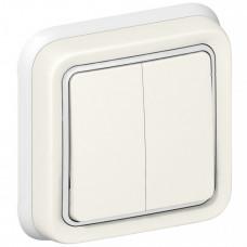 Plexo Белый Переключатель 2-клавишный внутренний монтаж (в сборе) IP55   069855   Legrand