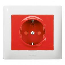 Galea Life Розетка с/з с механич блокировкой (использовать с 50299) Красный | 771029 | Legrand