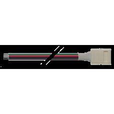 Коннектор для светодиодной ленты LED PLSC-10x4/20 (5050 RGB) 10 штук в упаковке   1013767   Jazzway