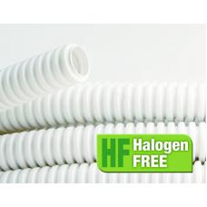 Труба гибкая гофрированная ПЛЛ 25мм с протяжкой не содержит галогенов ПВ-0 (50м) белый | 81825 | DKC