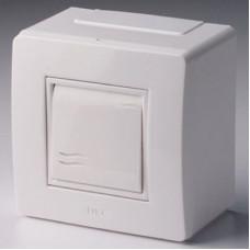 Коробка для миниканалов с выключателем. коричневая (розница) | 10002B | DKC