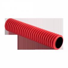 Труба гофрированная двустенная ПНД d 110 с зондом (50 м) красная, EKF PROxima|tg2st-110-50m|EKF