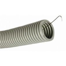Труба гибкая гофрированная ПВХ 25мм с протяжкой (25м) | CTG20-25-K41-025I | IEK