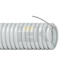 Труба гибкая гофрированная ПВХ 20мм с протяжкой (25м) | CTG20-20-K41-025I | IEK
