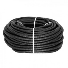 Труба гибкая гофрированная ПНД 40мм с протяжкой Plast (25м) черный | tpnd-40n | EKF