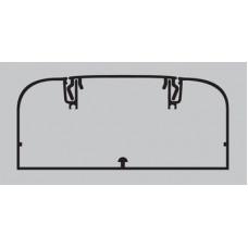 Алюминиевый кабель-канал 110х50 мм (с 1 крышкой), цвет белый | 11199 | DKC