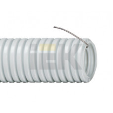 Труба гибкая гофрированная ПВХ 16мм с протяжкой (100м) | CTG20-16-K41-100I | IEK