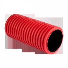 Труба гофрированная двустенная ПНД d 160 с зондом (50 м) красная, EKF PROxima|tg2st-160-50m|EKF
