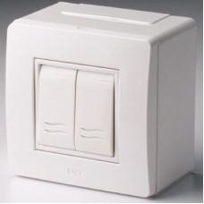 Коробка для миниканалов с двумя выключателями. коричневая (розница) | 10001B | DKC