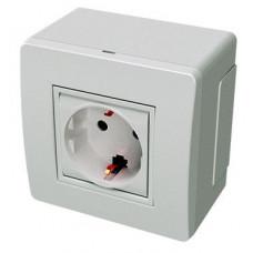 Коробка для миниканалов с силовой розеткой. коричневая (розница) | 10482B | DKC