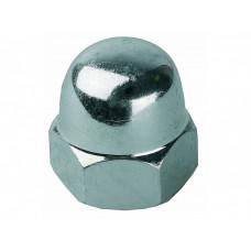 Гайка DIN1587 колпачковая оцинкованная М5 (10шт) - пакет   112276   Tech-KREP