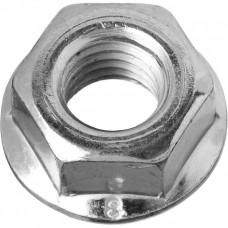 Гайка DIN6923 шестигранная оцинкованная С фланцем М6 (200шт) - пакет | 141611 | Tech-KREP