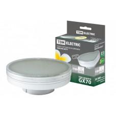 Лампа светодиодная LED 11Вт GX70 220В 3000К GX70 таблетка (плоский цилиндр) | SQ0340-0077 | TDM