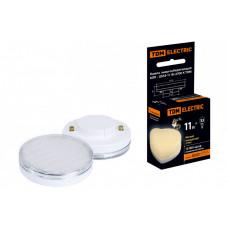 Лампа энергосберегающая КЛЛ 11Вт GX53 827 таблетка (плоский цилиндр) | SQ0323-0121 | TDM