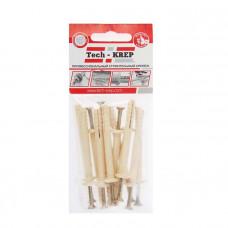 Дюбель-гвоздь 6L40 грибовидная манжета (нейлон) (12шт) - пакет | 102938 | Tech-KREP