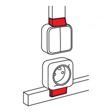 Адаптер для монтажа серии Quteo - для мини-каналов Metra - 24x14 | 638127 | Legrand