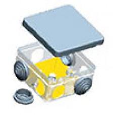 Коробка ответвительная с кабельными вводами, (6 вводов) 100х100х50, IP54 | KMS 002 | SPL