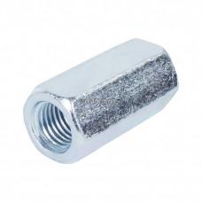 Гайка DIN6334 соединительная оцинкованная М20 (1шт) - пакет | 112841 | Tech-KREP