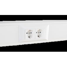 Суппорт с рамкой на 2 поста (45х45) в профиль для кабель-канала 100х50 | 100008S | SPL
