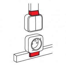 Адаптер для монтажа серии Quteo - для мини-каналов Metra - 16x16 | 638137 | Legrand