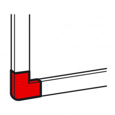 Плоский угол - для мини-каналов Metra - 24x14 | 638133 | Legrand