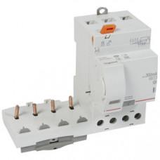 Дифференциальный блок DX3 - тип AC - 300 мА - селективный - 4П - 400 В~ - 63 А - 3 модуля   410521   Legrand
