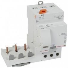 Дифференциальный блок DX3 - тип AC - 300 мА - 3П - 400 В~ - 63 А - 3 модуля   410475   Legrand