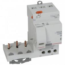 Дифференциальный блок DX3 - тип Hpi - 300 мА - 3П - 400 В~ - 63 А - 3 модуля   410489   Legrand