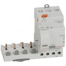 Дифференциальный блок DX3 - тип AC - 300 мА - 4П - 400 В~ - 63 А - 3 модуля   410512   Legrand