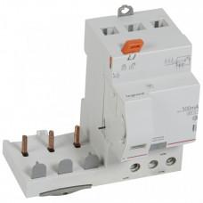 Дифференциальный блок DX3 - тип AC - 300 мА - селективный - 3П - 400 В~ - 63 А - 3 модуля   410477   Legrand