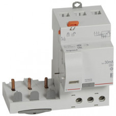 Дифференциальный блок DX3 - тип A - 30 мА - 3П - 400 В~ - 63 А - 3 модуля   410480   Legrand