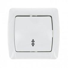 Мадрид Выключатель проходной 1-клавишный 10А белый EKF | EIV10-025-10 | EKF
