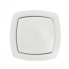 Париж Выключатель 1-клавишный 10А белый EKF Simple | ESV10-021-10 | EKF