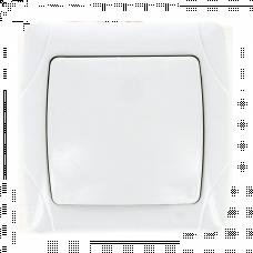 Мадрид Выключатель 1-клавишный 10А белый EKF | EIV10-021-10 | EKF