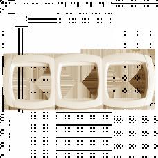Париж Рамка 3-местная горизонтальная бежевая EKF Simple | ESM-G-303-20 | EKF