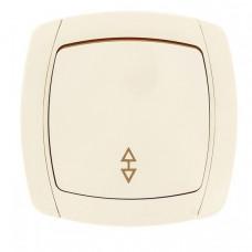 Париж Выключатель проходной 1-клавишный 10А бежевый EKF Simple | ESV10-025-20 | EKF