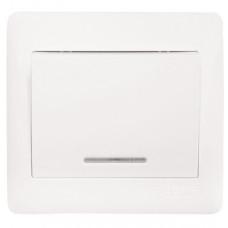 София Выключатель 1-клавишный с индикатором,10А, белый EKF Simple   ELV10-121-10   EKF