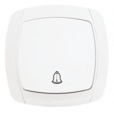 Париж Кнопка звонка 10А белый EKF Simple | ESZ10-026-10 | EKF