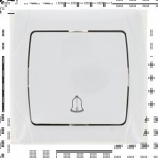 Мадрид Кнопка звонка 1-клавишный 10А белый EKF | EIZ10-026-10 | EKF