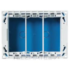 Бокс для рабочего места скрытого монтажа на 3 двойных адаптера (3 вертикальных ряда, 12 модулей) | T1093 | ABB