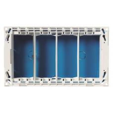 Бокс для рабочего места скрытого монтажа на 4 двойных адаптера (4 вертикальных ряда, 16 модулей) | T1094 | ABB