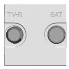 ABB Zenit Шампань Розетка TV-FM-SAT проходная, (2мод) | N2251.8 CV | ABB
