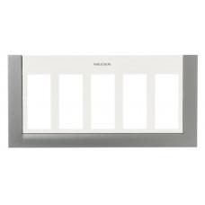 Панель лицевая для бокса рабочего места открытого/скрытого монтажа на 5 двойных адаптеров с декоративной накладкой, цвет синий | T1175 AZ | ABB